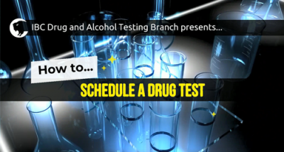 How to schedule a drug test (paper CCF)