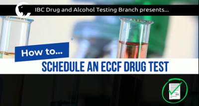 How to Schedule a Drug Test using eCCF